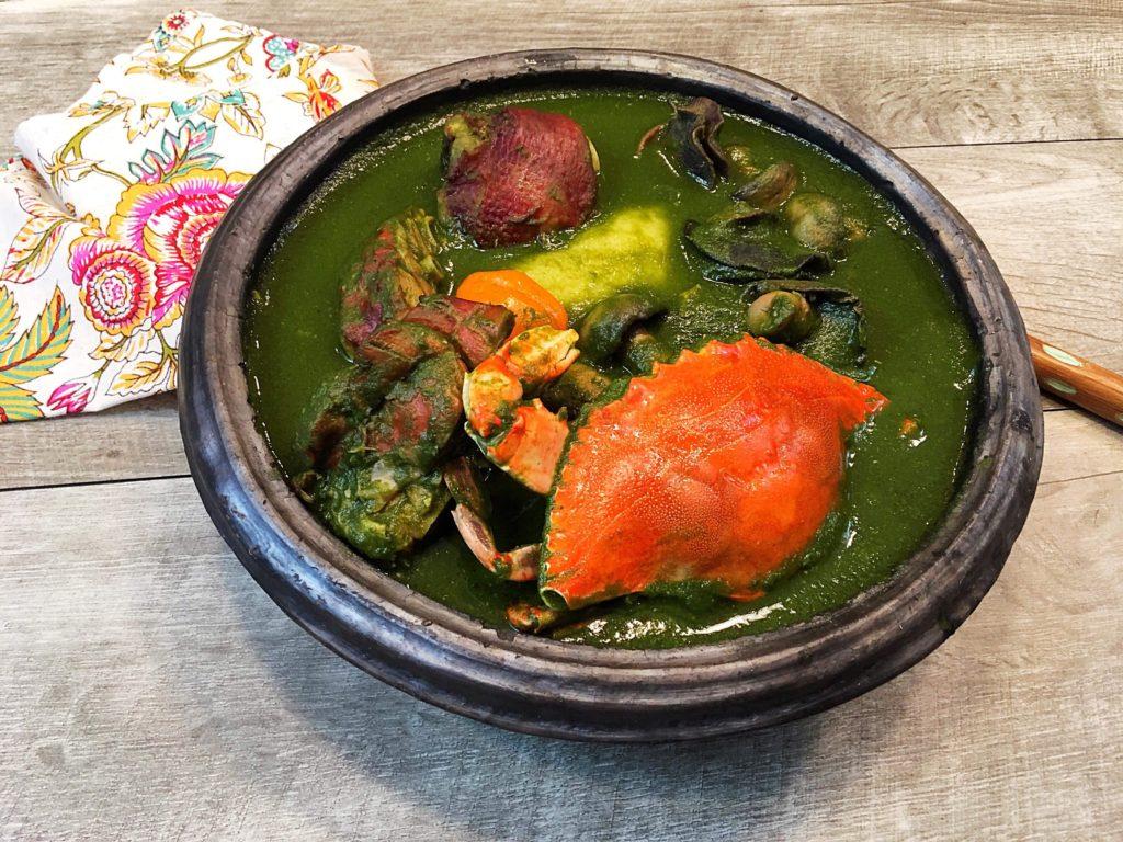 Nanaaba's Kitchen-how to make ebunuebunu soup (green soup) - AfroTide